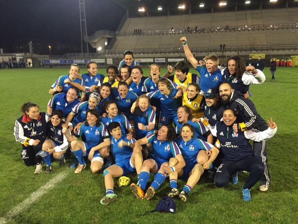 nazionale femminile rugby terze nel sei nazioni 2015