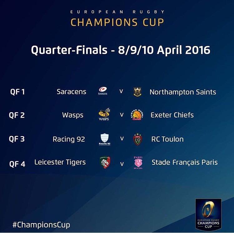quarti di finale european champions cup
