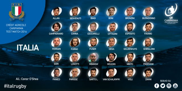 italia test match novembre 2016