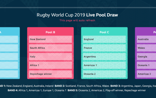 gironi rugby world cup 2019