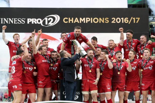 Scarlets guinness PRO12 champs 2017