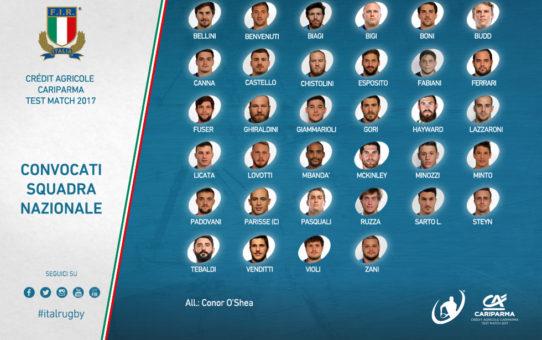 5 esordienti per l'Italia che prepara i test match di Novembre