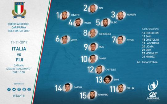 Test match: l'Italia che sfida Fiji