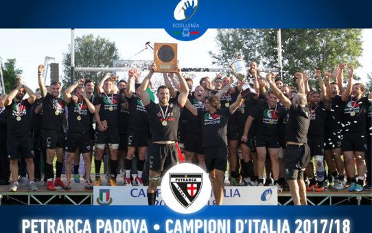 Il Petrarca vince il Campionato Eccellenza 2017-18