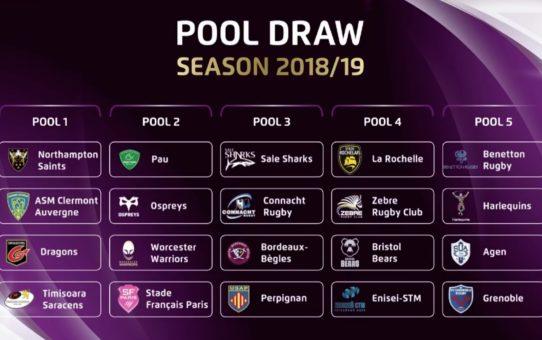 I sorteggi delle coppe europee di rugby