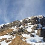 Verso il monte Pelf nelle dolomiti feltrine