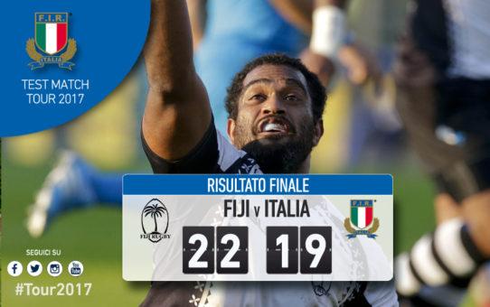 Test Match 2017: l'Italia perde anche con le Fiji